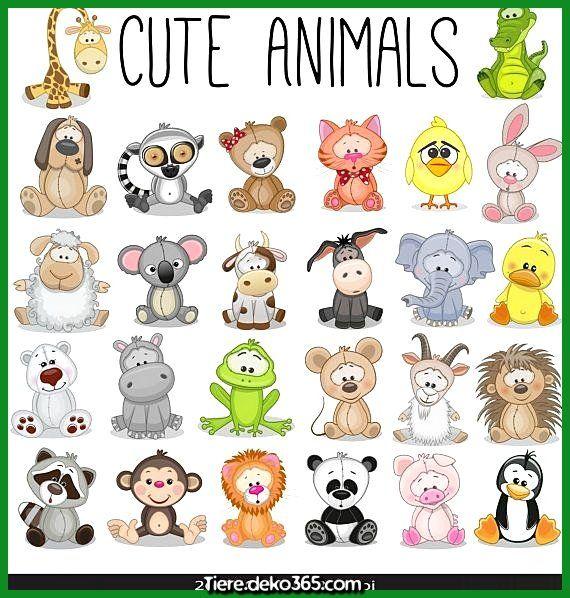Zauberhafte Tier Saugling Digital Clipart Safari Tier Illustrationen Tier Zoo Clipart Cute Animals Cute Drawings Animal Clipart