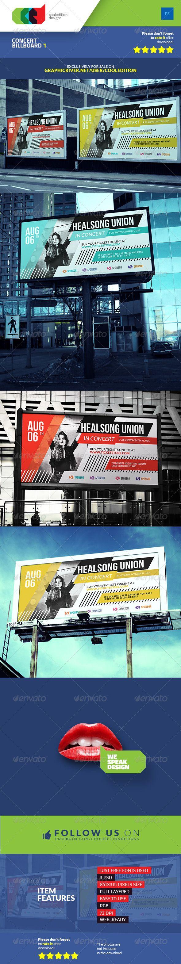 Concert Billboard Template #design Download: http://graphicriver.net/item/concert-billboard-1/7428195?ref=ksioks