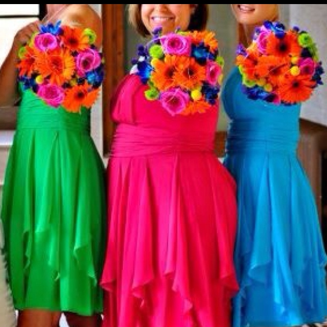 43 Best Bright Color Weddings Images On Pinterest