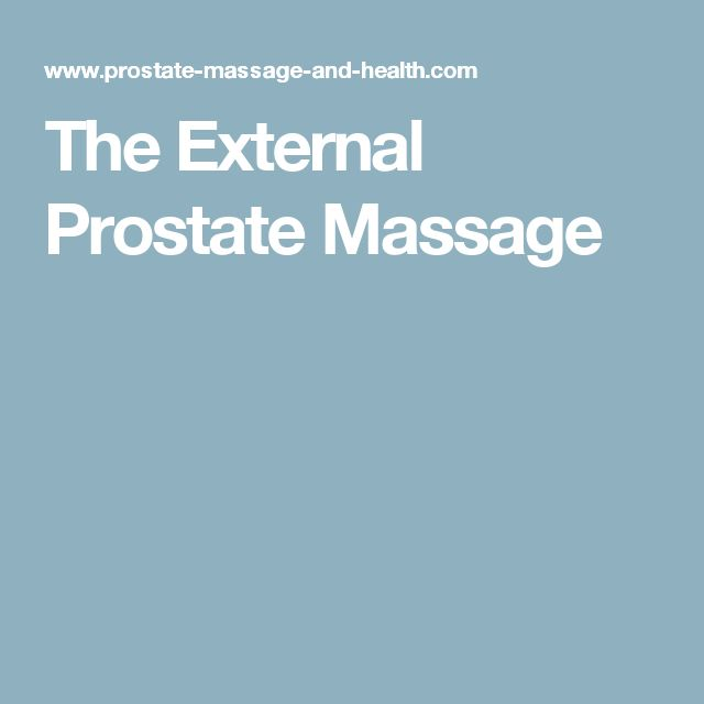 The External Prostate Massage