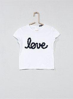 Niña 0-36 meses - Camiseta animación  love  - Kiabi  e039f789b42