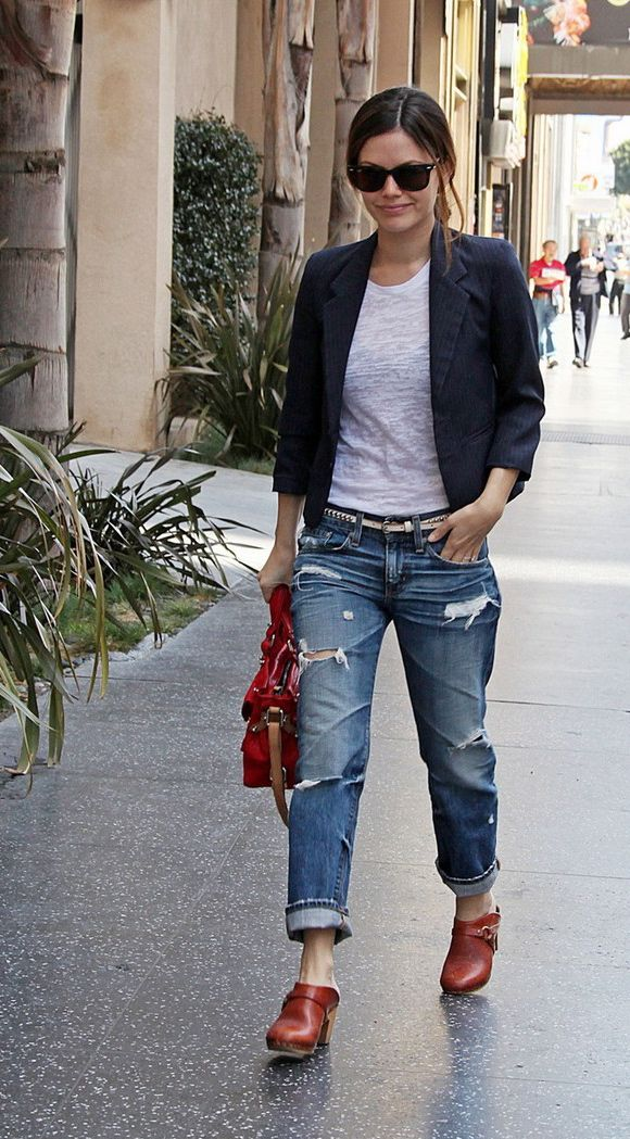1000  images about boyfriend jeans on Pinterest | Blazers ...