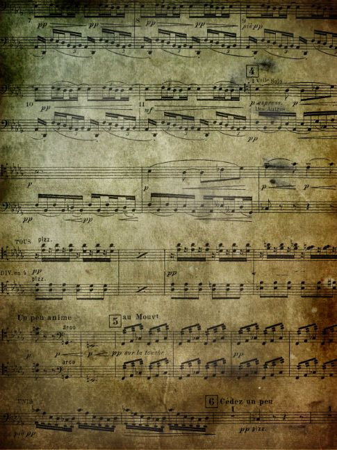 Free Texture: Grunge Music - from what I could tell, you have to have a flicker account to access these free Grunge Music digital papers.