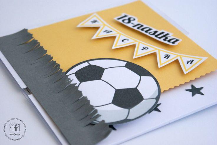 Piłkarska osiemnastka   Kartki ręcznie robione, zaproszenia ślubne handmade Poznań