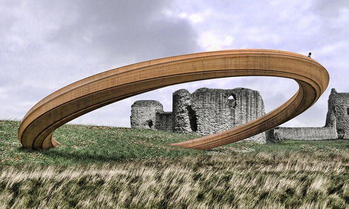 Wales postaví obří kovový prstenec jako vyhlídku