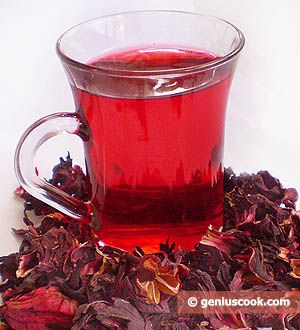 Karkade - Hibiscus tea served cold or hot
