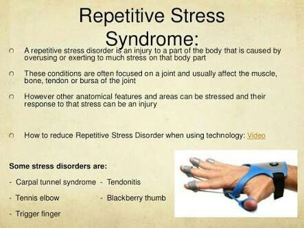 Repititive Stress Syndrome