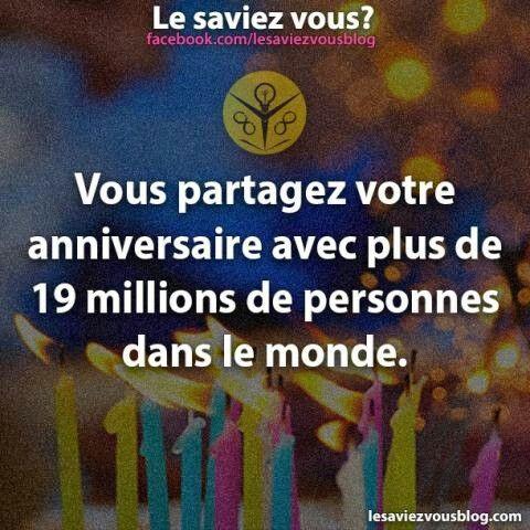 Joyeux Anniversaire aux 19millions qui ont anniversaire comme moi le 7juillet !! ;p
