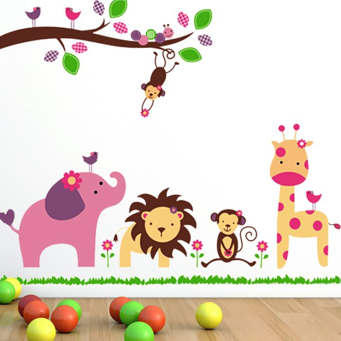 Nursery Wall Sticker Removable Vinyl Wall Sticker Decal Kid Room Art Mural Home Wall Decoration