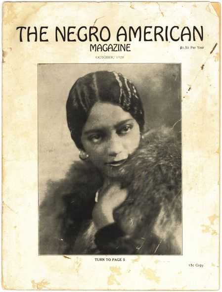 "Cover of the October 1928 issue of The Negro American with photograph of Miss Erma Sweatt, sister of civil-rights activist Heman Sweatt. The Negro American was a Harlem Renaissance era magazine published in San Antonio, Texas, that declared itself to be ""the only magazine in the South devoted to Negro life and culture."""