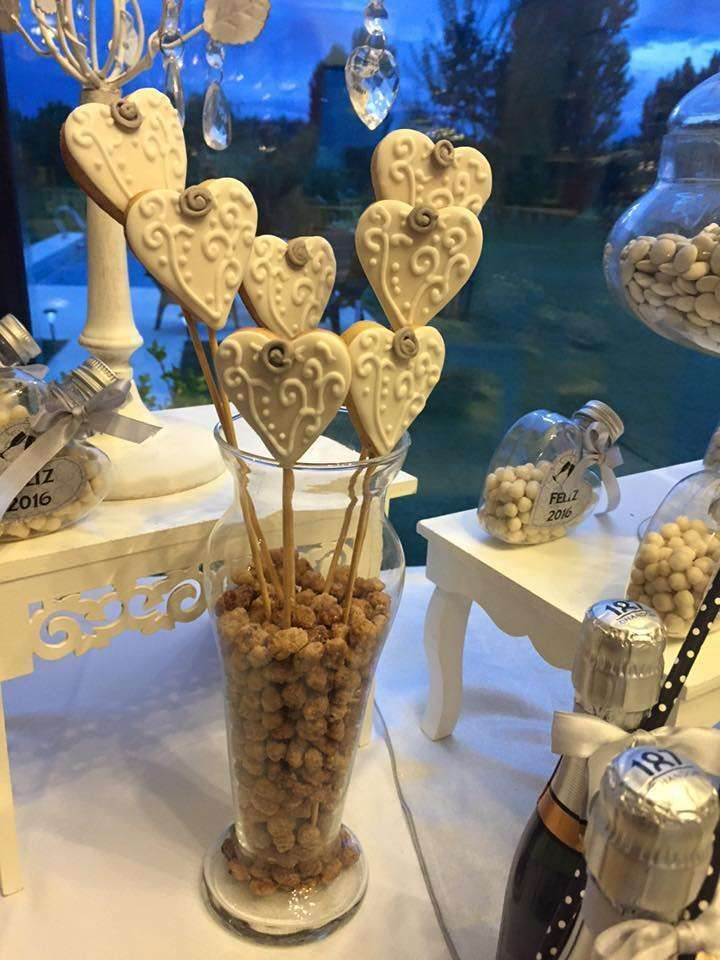 Cookie pops at a New Year's party! See more party ideas at CatchMyParty.com!