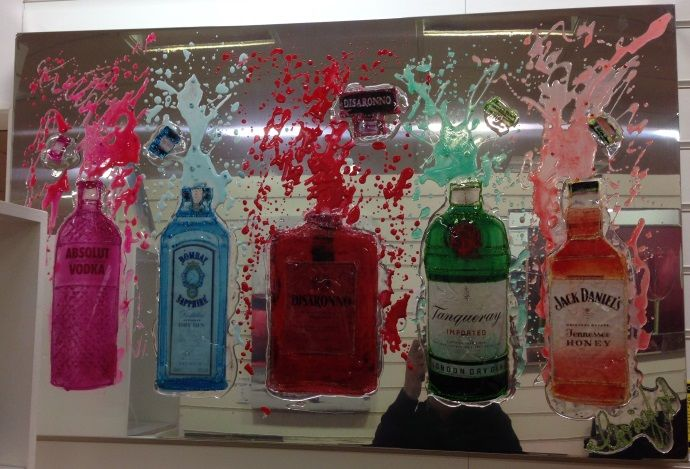 "claire bottle ""favourite tipple"" art work"