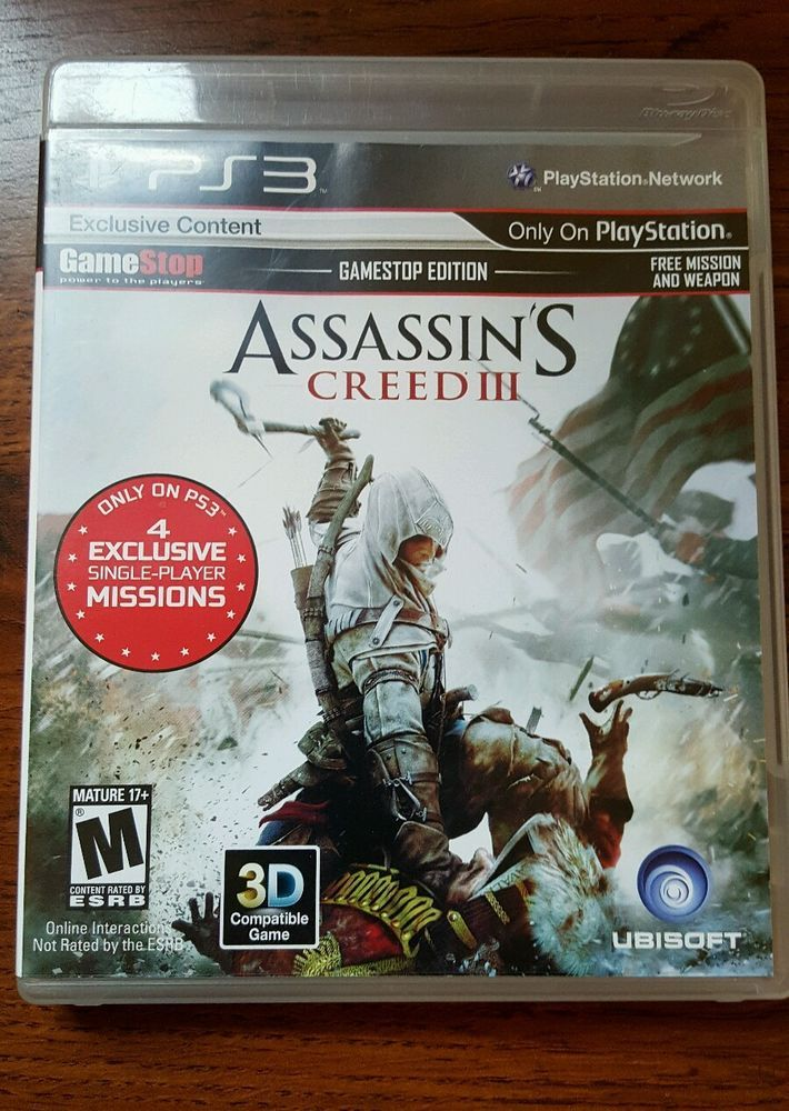 PS 3 Assassin's Creed III  Game