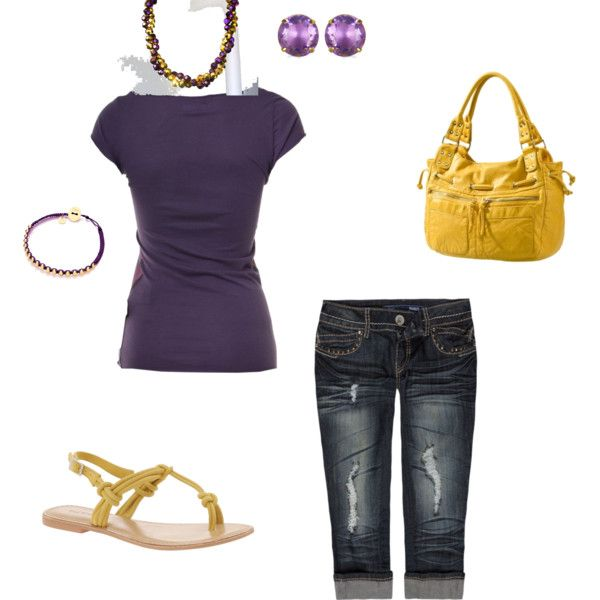 LSU game day, created by crystal-turner-roberts on Polyvore