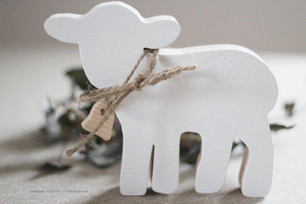 Drewniana owieczka - SeeHome - Dekoracje