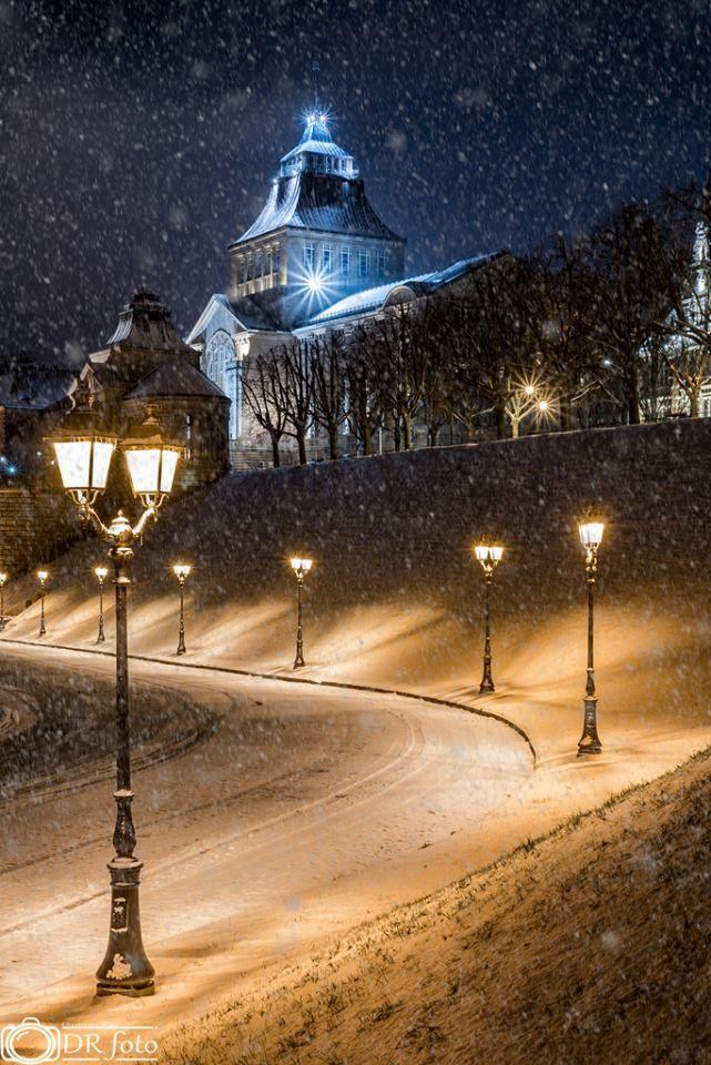 Szczecin Zima nie daje o sobie zapomnieć :) Fot. Damian Róż