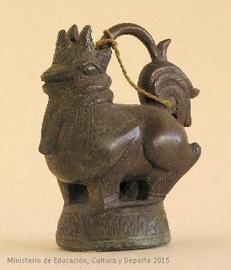 Escultura en bronce de animal fantástico. CE10724