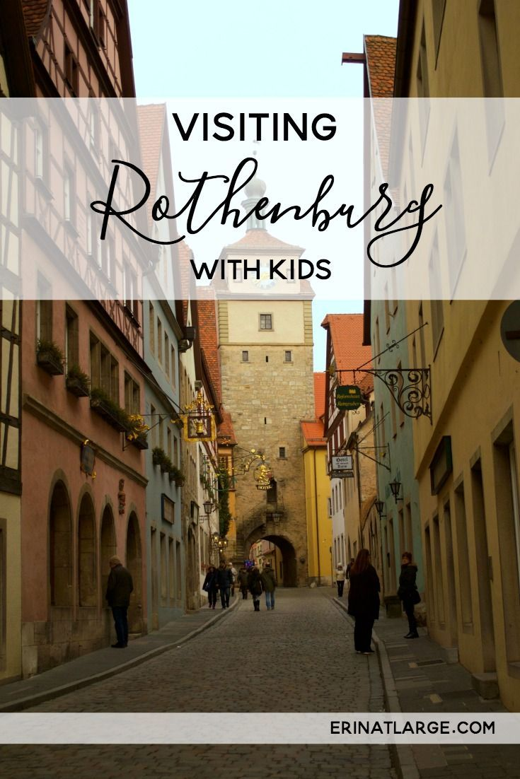 Visit Rothenburg ob der Tauber, a storybook German town with lots of things to do with kids. via @erinehm