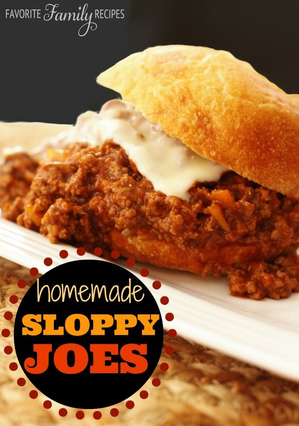 The sauce for these Sloppy Joes is AMAZING. Best I have ever had... you will never buy the stuff in a can again. #sloppyjoes #groundbeef #recipe