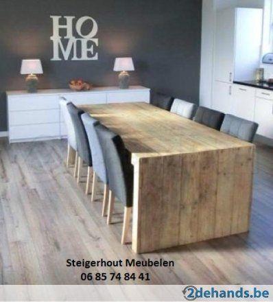 Steigerhout Eettafels  GRATIS Thuis Levering In Heel Belgie!
