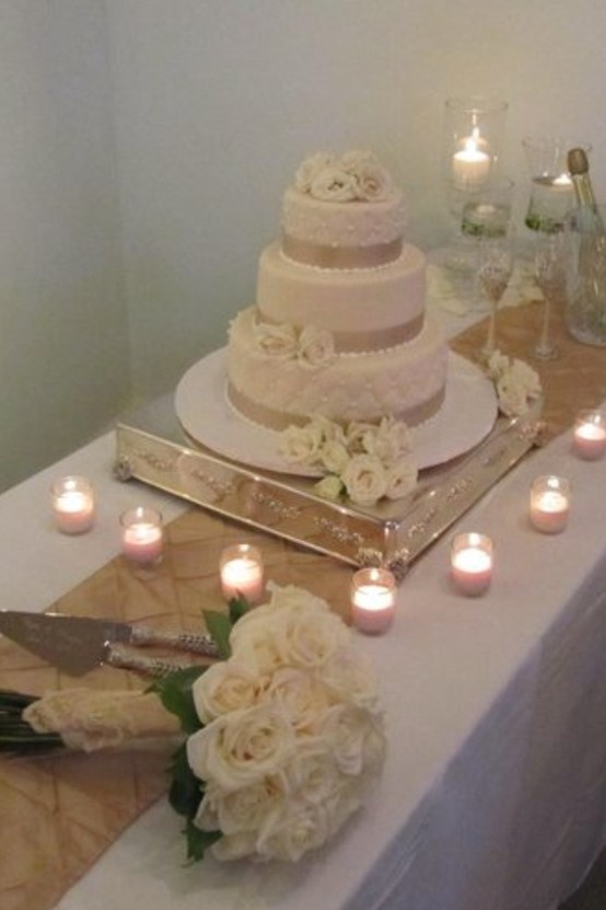 Wedding Reception Cake Table Display Beach Destin Florida Santa