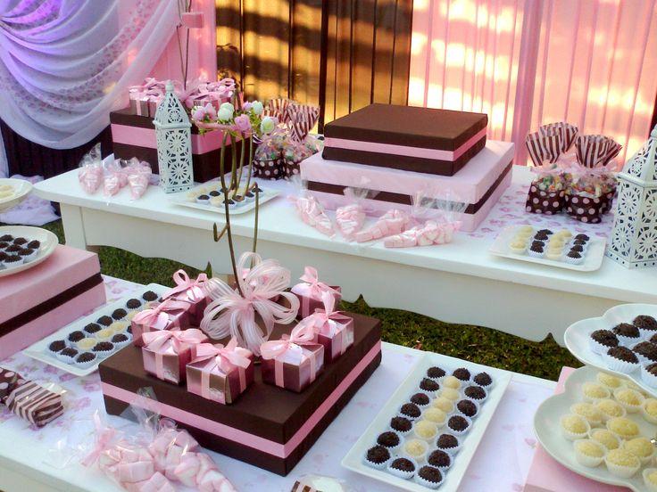 Bautismo tonos Rosa y Marrón... | Decoración de pasteles | Pinterest