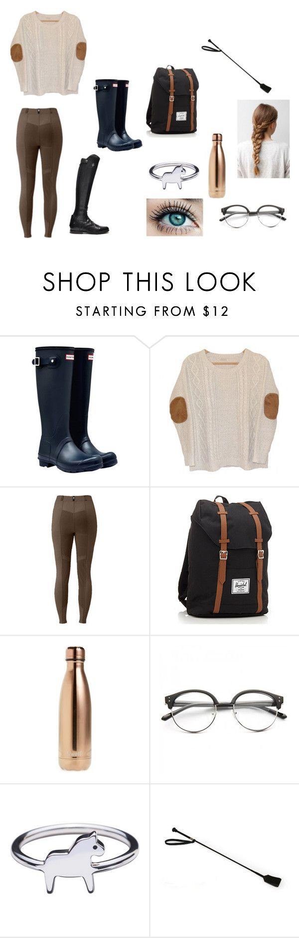 """""""My perfect fall day in the barn🍂"""" by kylieirwin11 ❤ liked on Polyvore featuring Hunter, Urban Outfitters, Herschel, S'well and Concord"""