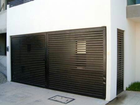 Porton interiores p pinterest for Portones para garage