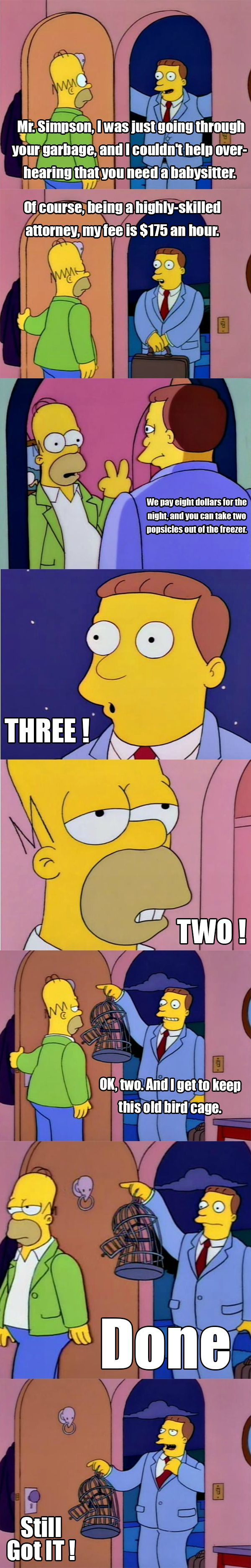 Lionel Hutz is one of the best Simpsons characters of all time. -D