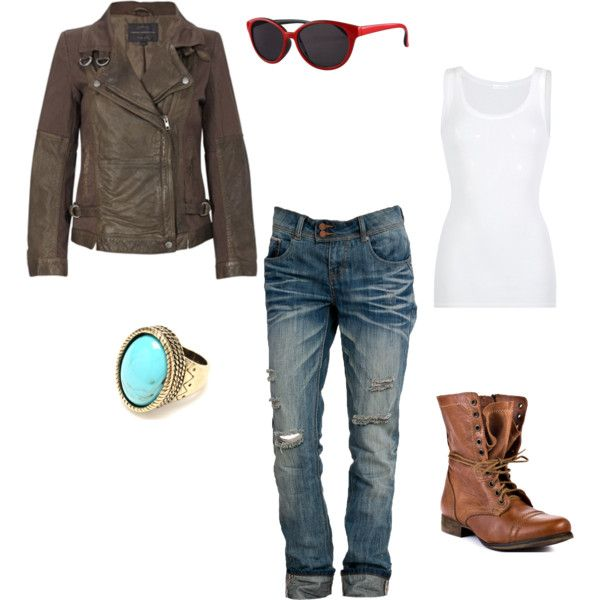 Going for a motorcycle ride kinda outfit