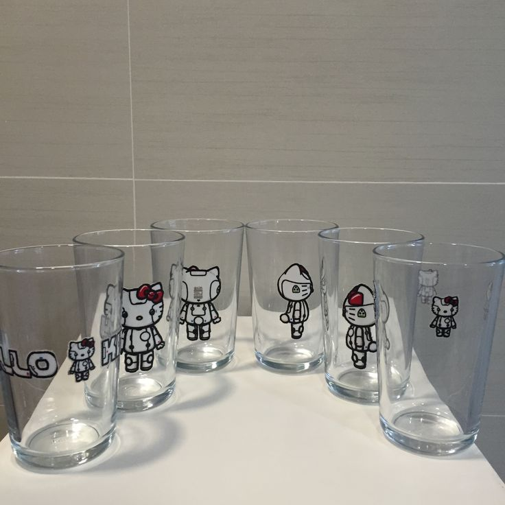 Clear glass mug designed with original sanrio hello kitty fabric fleurdelis.tictail.com