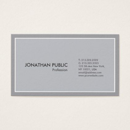 Modern Grey Harmony Professional Simple Elegant Business Card - yoga health design namaste mind body spirit