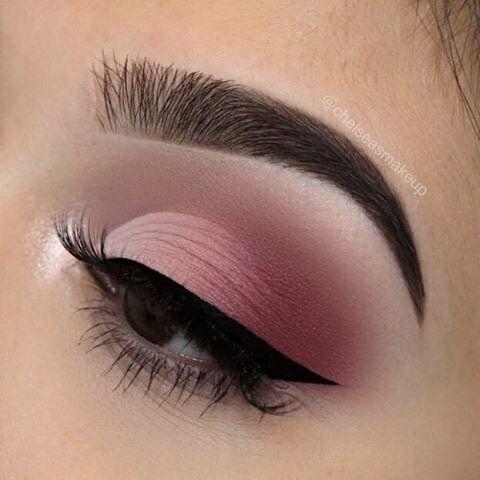 Hier ist ein Make-up in perfekten Rosatönen, um heute Abend glamourös zu sein   – Make-up Ideen