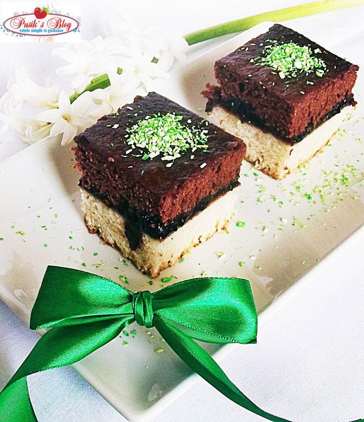 Retete culinare : Prajitura in 2 culori de post, Reteta postata de pusikmea in categoria Prajituri