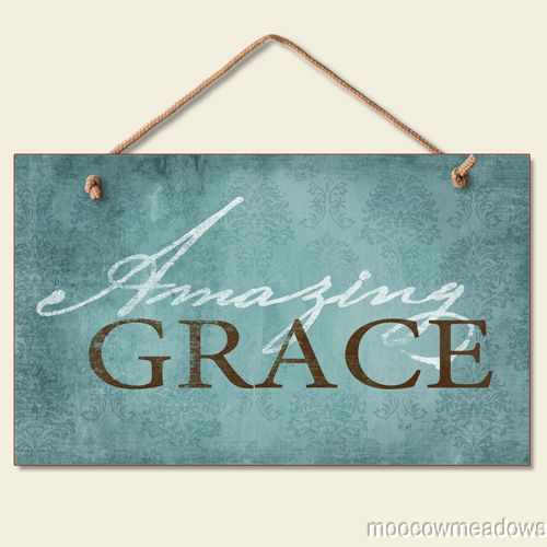 New Amazing Grace Sign Inspirational Plaque Christian Religious Wall Decor Art