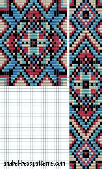 бисерные схемы узоры для