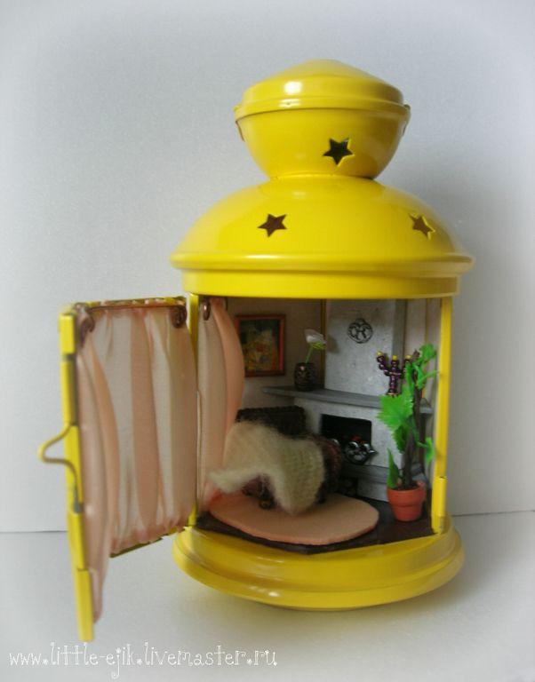 """Купить Румбокс в фонарике """"Камин"""" - желтый, румбокс, фонарь, румбокс-фонарь…"""