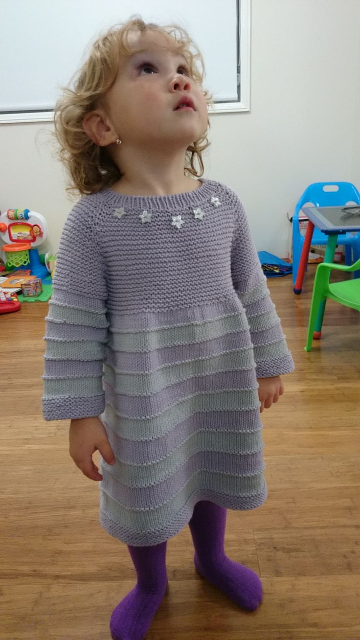 Lilac dress for little princess