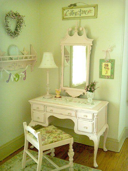 Best Shabby Chic Vanity Inspiration Images On Pinterest - Vanity table for teenager