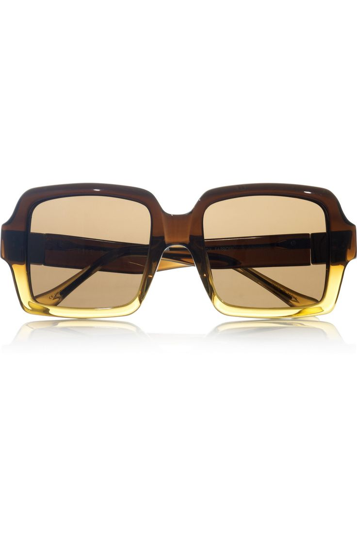 Square-frame acetate sunglasses by The Row