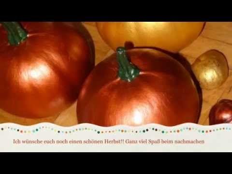 Herbstdeko mit Kürbis (basteln leicht gemacht) - YouTube