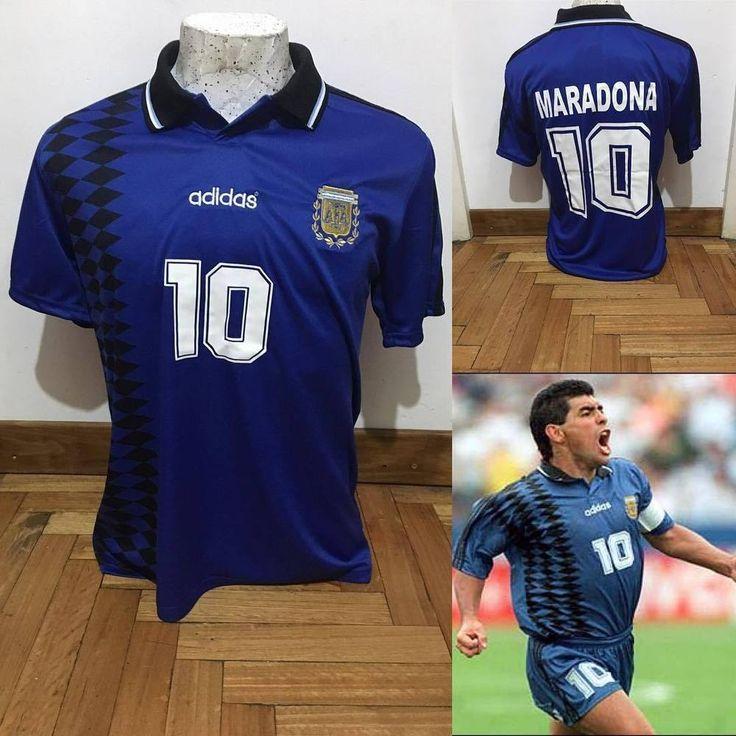 Diego Maradona SOCCER WORLD CUP 1994 - Jersey Argentina - REPLICA   | eBay