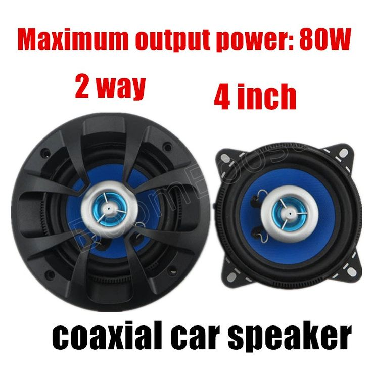 New 2x80 Watts car audio speakers best selling hot car stereo speaker High quality 4 inch 2 way car coaxial horn #Affiliate