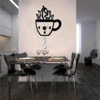 Reloj de Pared de Vinilo Cafe