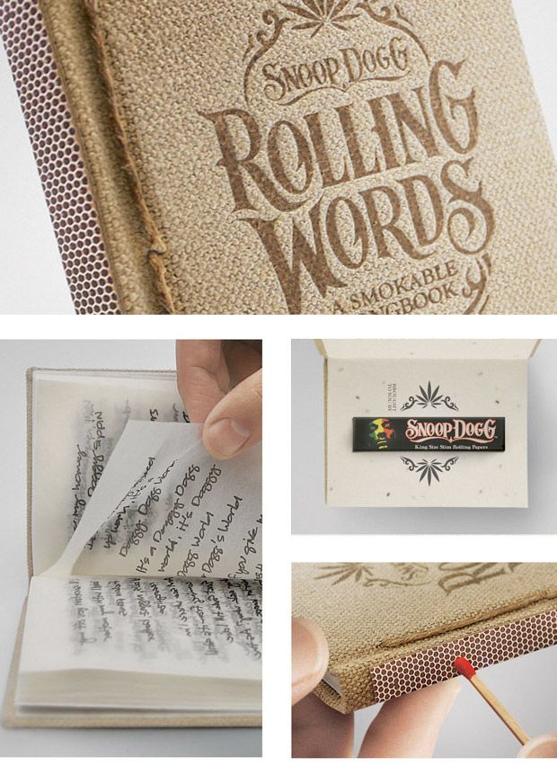 Is it wrong that I think this is hilarious?!?!?!  Snoop Dogg's Rolling Words Smokable Songbook