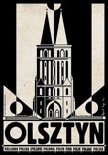 Olsztyn, plakat z serii Polska, Ryszard Kaja