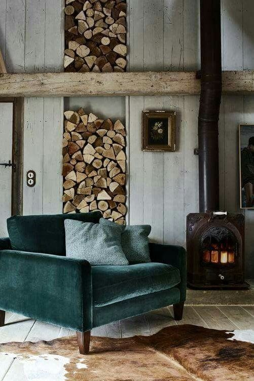 Winter velvet and fireplaces.