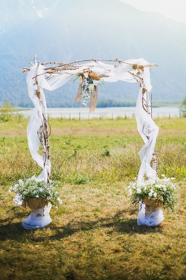 THIS is almost Perfect! I think!... ;) country rustic wedding arbor arch