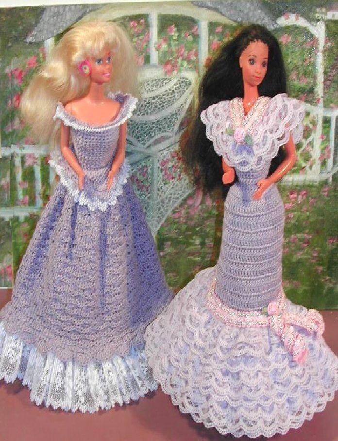 Attractive Häkeln Barbie Kleidung Frei Muster Photo - Decke Stricken ...
