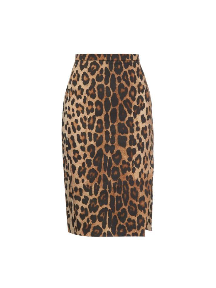 ALTUZARRA Fawn leopard-print pencil skirt